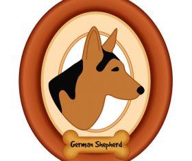 Shepherd portrait vector