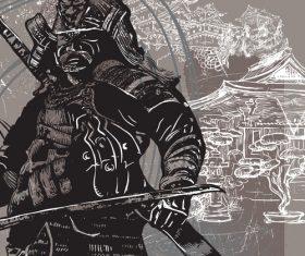 Shogun silhouette vector