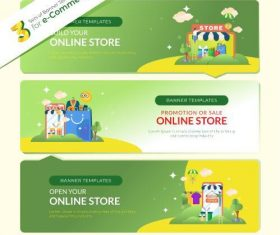 Shopping website banner vector
