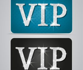 Silver shiny VIP card vector