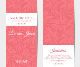 Simple wedding invitation card template vector