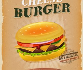 Snack poster burger vector
