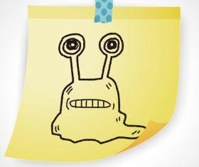 Snail creative doodle vector