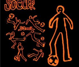 Soccer sports poster vector
