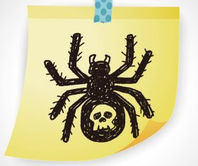 Spider creative doodle vector
