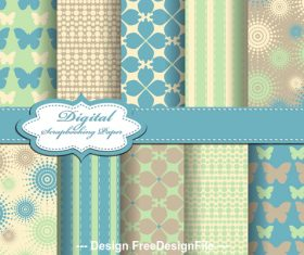 Spring elements seamless pattern vector