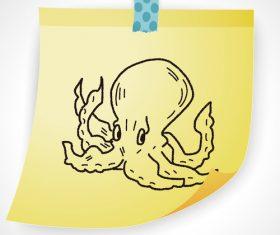 Squid creative doodle vector
