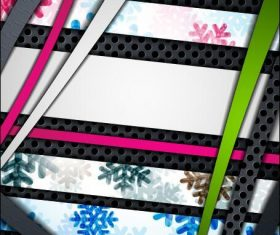 Striped border abstract background vector