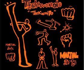 Taekwondo sports poster illustration vector