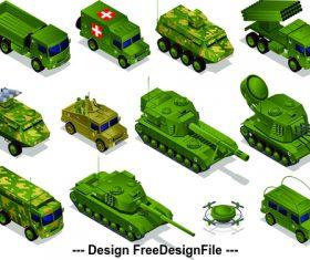 Tank military vehicle cartoon illustration vector