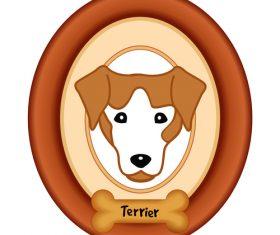 Terrier portrait vector