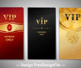 Three color VIP card vector