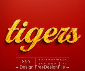 Tigers text Effect Photoshop Styles