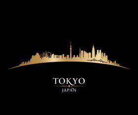 Tokyo japan silhouette vector