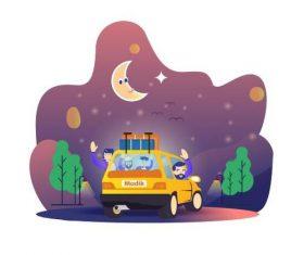 Travel cartoon illustration vector