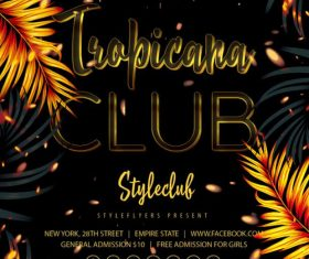 Tropicana club poster psd template
