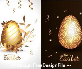 Two easter eggs illustration vector