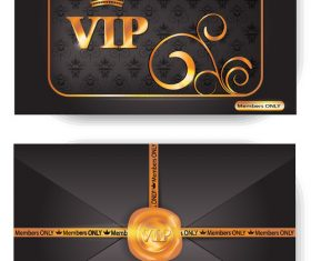 VIP envelope with pattern and stamp vector