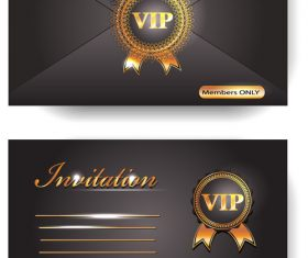 VIP invitation envelope vector