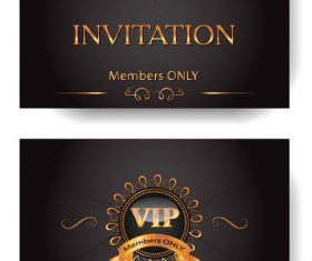 VIP invitation envelope with gold design elements vector