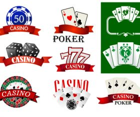 Various casino games vector