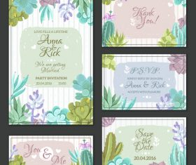 Various invitation card template vector
