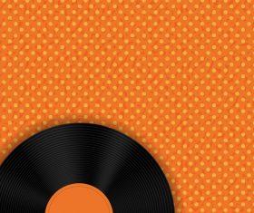 Vermilion background vinyl disc vector