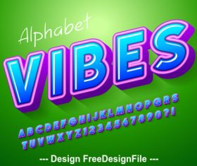 Vibes editable font effect text vector