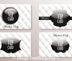 Vip black and white cards with the abstract background vector