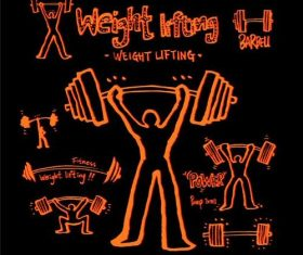 Weightlifting sports poster vector