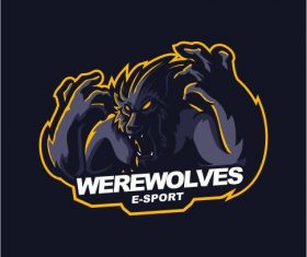 Werewolves gaming logo vector