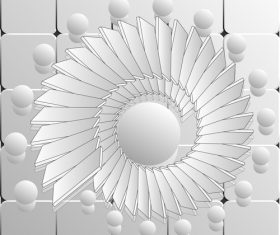 White swirl flower abstract background vector