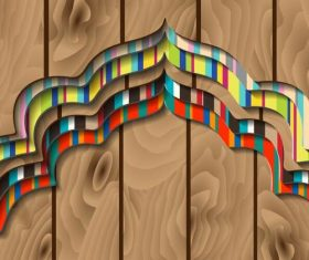 Wooden background layered pattern vector