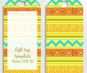 Yellow lace label template vector