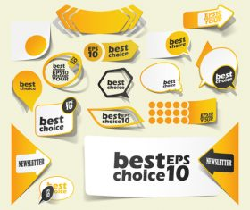 Yellow sale sticker vector
