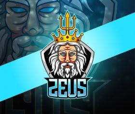 ZEUS gaming logo vector