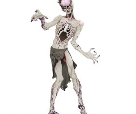 Zombie with outstretched arms vector