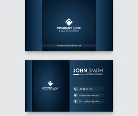 Modern professional business card vector template