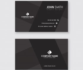 Simple black business card template