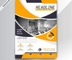 Creative abstract business flyer template