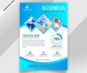 Modern professional business flyer template vector