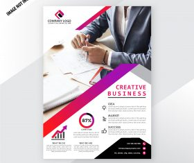 Modern corporative business flyer template vector