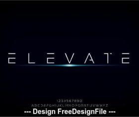 futuristic alphabet minimalist font design vector