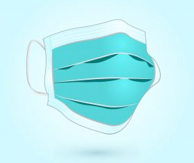 Realistic medical face mask vector design