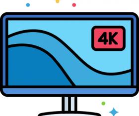 4K-Monitor Icon Vector