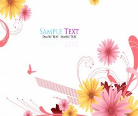 Abstract Beautiful Floral  Illustration Vector