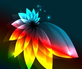 Abstract Colorful Light Flower Vector Graphic Vector