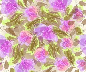 Abstract Seamless Floral Background Graphic Vector