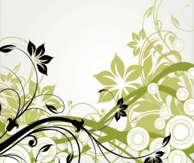 Abstract Vector Floral Background Vector