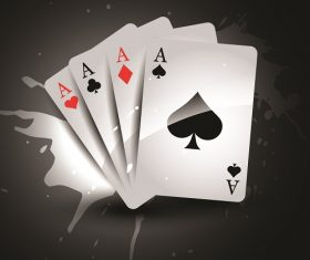 Ace Cards Gambling Dark Backgrounds